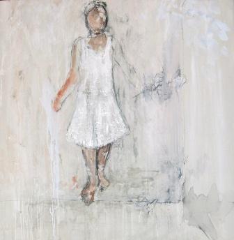 """""""El paseo"""", mixta s / t, 100 x 90 cm."""