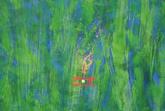 """""""It looks like simple"""", mixta s / t, 97 x 146 cm."""