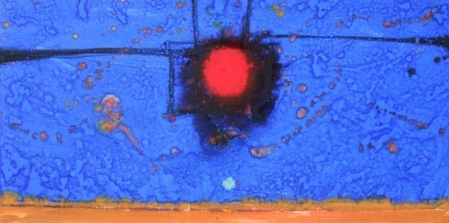 """Amanecer"", mixta s / t, 47 x 196 cm."