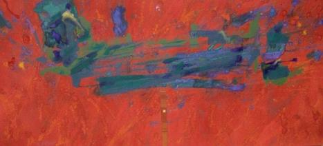 """""""Tormenta"""", mixta s / t, 47 x 100 cm."""