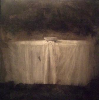 """""""Silencio"""", mixta s / t, 100 x 100 cm."""