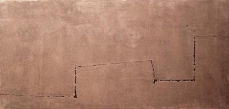 """""""Sin título"""", mixta s / t, 58 x 123 cm."""