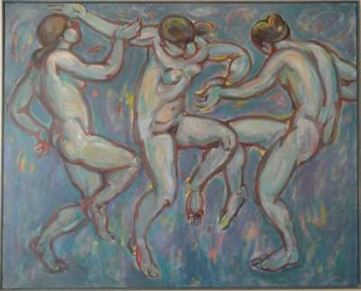 """Diablesas"", óleo s / t, 130 x 162 cm."