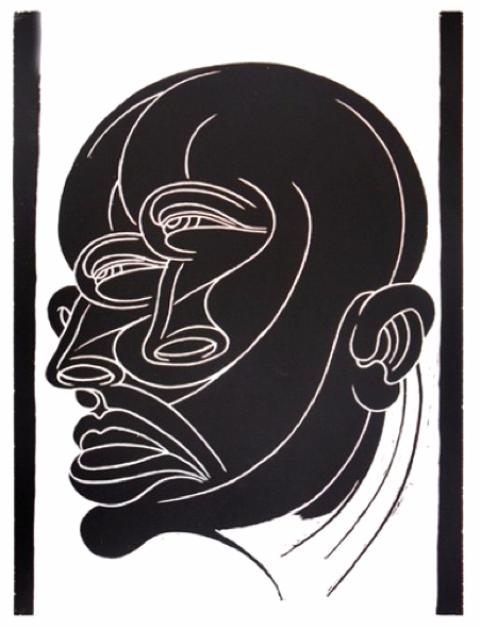 Sin título, xilografía, 100 x 65 cm