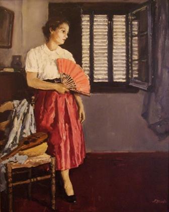 """""""Antonia"""", óleo s / t, 100 x 81 cm."""