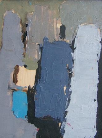 """""""Abstracció"""", óleo s / m, 28 x 21 cm."""