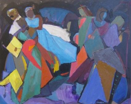"""Dança gitana"", óleo s / t, 73 x 92 cm."
