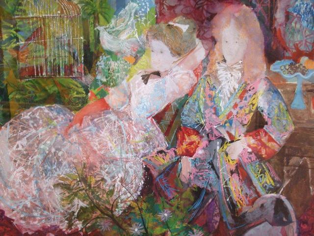 """Grau Sala, """"Los Marqueses"""" (1972), óleo s / p, 49 x 65 cm."""